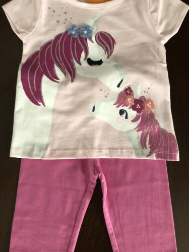 NWT Gymboree Girl Everyday Playwear Pink Horse Tee /& Leggings Outfit 3T 4T 5T