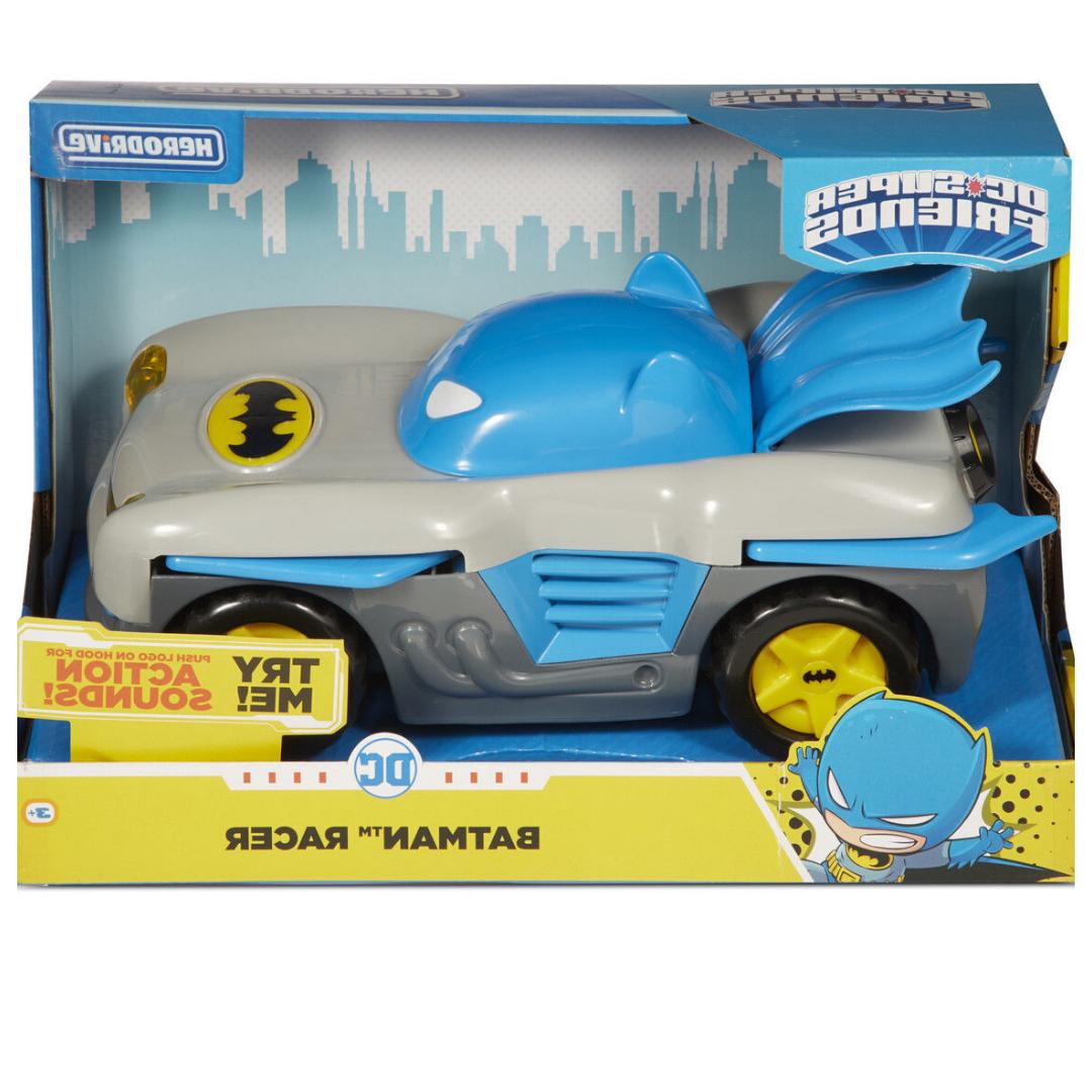 NEW DC Superfreunde Herodrive Batman Racer Vehicle voiture Perfect Urlaub Geschenk