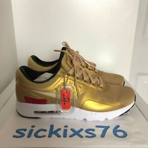 4476eb4034 DS Men's NIKE AIR MAX ZERO QS 'Metallic Gold' Sz 7-9.5/EUR 40-43 ...
