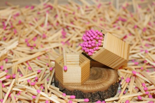 500 pink tips real decorative perfect wedding safety matches white matchsticks