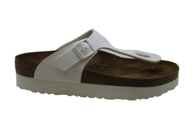 Papillio Womens Gizeh Open Toe Casual T-Strap Sandals, White, Size 11.0