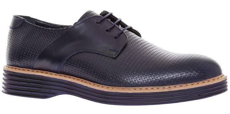 S Baker Navy Crosshatch Derby men's shoes size 8UK (42EU) - 100% Leather