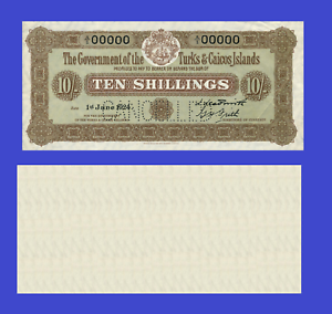 Turks and Caicos islands 10 schilling 1924 UNC Reproduction