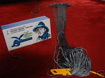 Fischernetz Stellnetz 30m,H 3,0mX 90mm  geflochtene