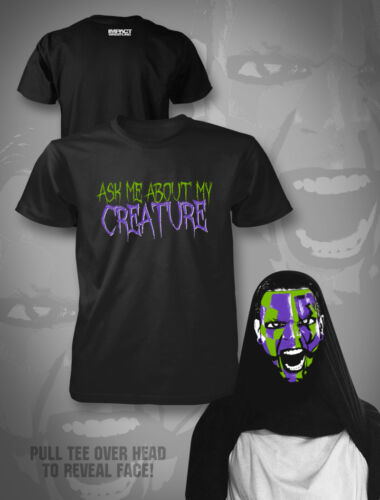 """Official TNA Impact Wrestling Jeff Hardy /""""Inside Out Tee/"""" T-Shirt"""