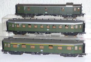 3-Roco-Hechtwagen-11-003-Esn-16-029-Esn-105-101-Hmb-Packwagen-H0-Personenwagen