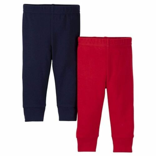 NEW Just One You by Carter/'s Boys 2 Pairs Pants Red /& Navy Blue 6m Bottoms