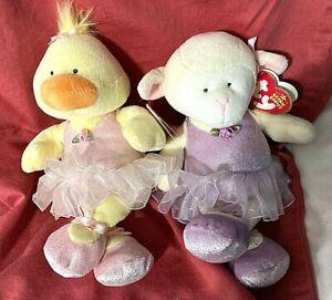 NEW TY 2005 Beanies-Arabesque Ballerina Lamb&Allegro Ballerina Duck-Setof 2 MWMT