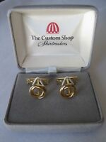 The Custom Shop Gold-tone Knot-style Cufflinks, Old Stock