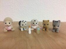 Calico Critters Babies Lot Baby Cat Kitten Dog Puppy Lamb