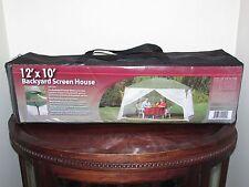 NEW 12' X 10' Backyard SCREEN HOUSE Canopy Gazebo Carry Case CVS Brand CVS-07002