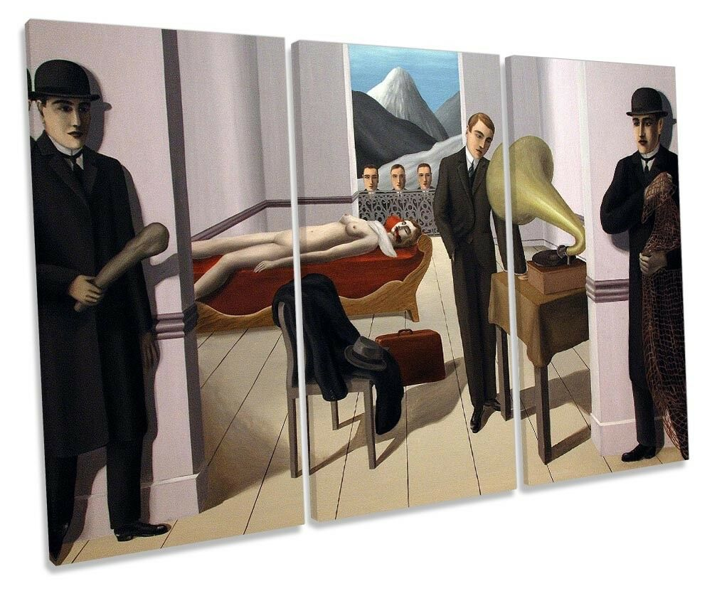 Rene Magritte The Menaced Assassin Picture TREBLE CANVAS WALL ART Print
