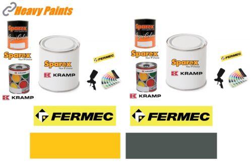 FERMEC Tracto Pelle Jaune /& Gris Peinture Endurance émail peinture 1 L Tins