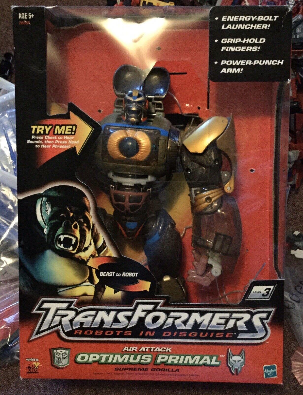 2001 Transformers Optimus Prime Primal Air Attack  azione cifra Hasbro