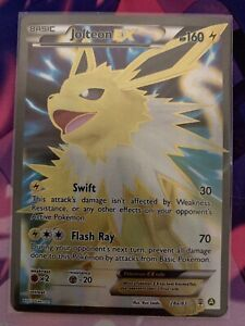 Jolteon EX Full Art 28a/83 Ultra Rare Holo Pokemon Card XY ...