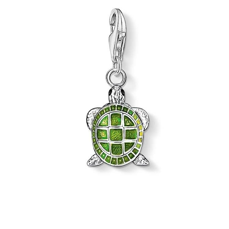 Genuine Thomas Sabo Charm Club Green Turtle Charm CC837
