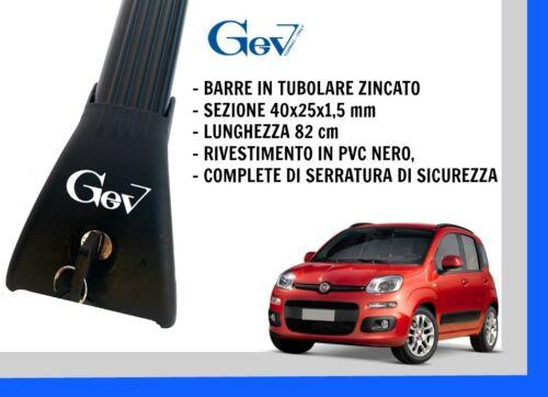 BARRE PORTATUTTO PORTABAGAGLI GEV PREMONTATE FIAT PANDA 3 SERIE 2012