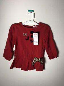 NWT Gymboree Girls GLAMOUR KITTY Cat Leggings Red 18 24