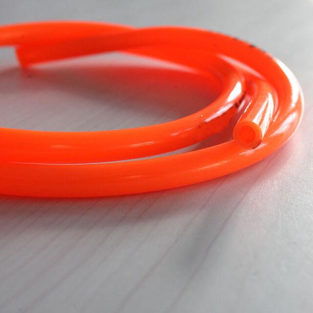 "Motorcycle Bright color  Fuel Line 8mm 30"" Orange Fuel Gas Hose Tube 3c-f B JCFS"