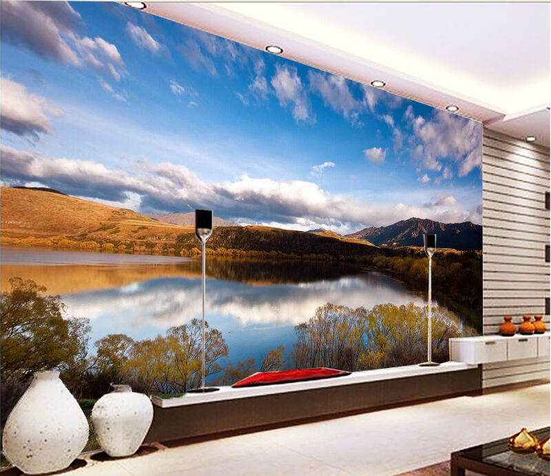 3D Clear Lake Sky 656 Wall Paper Wall Print Decal Wall Deco Indoor Wall