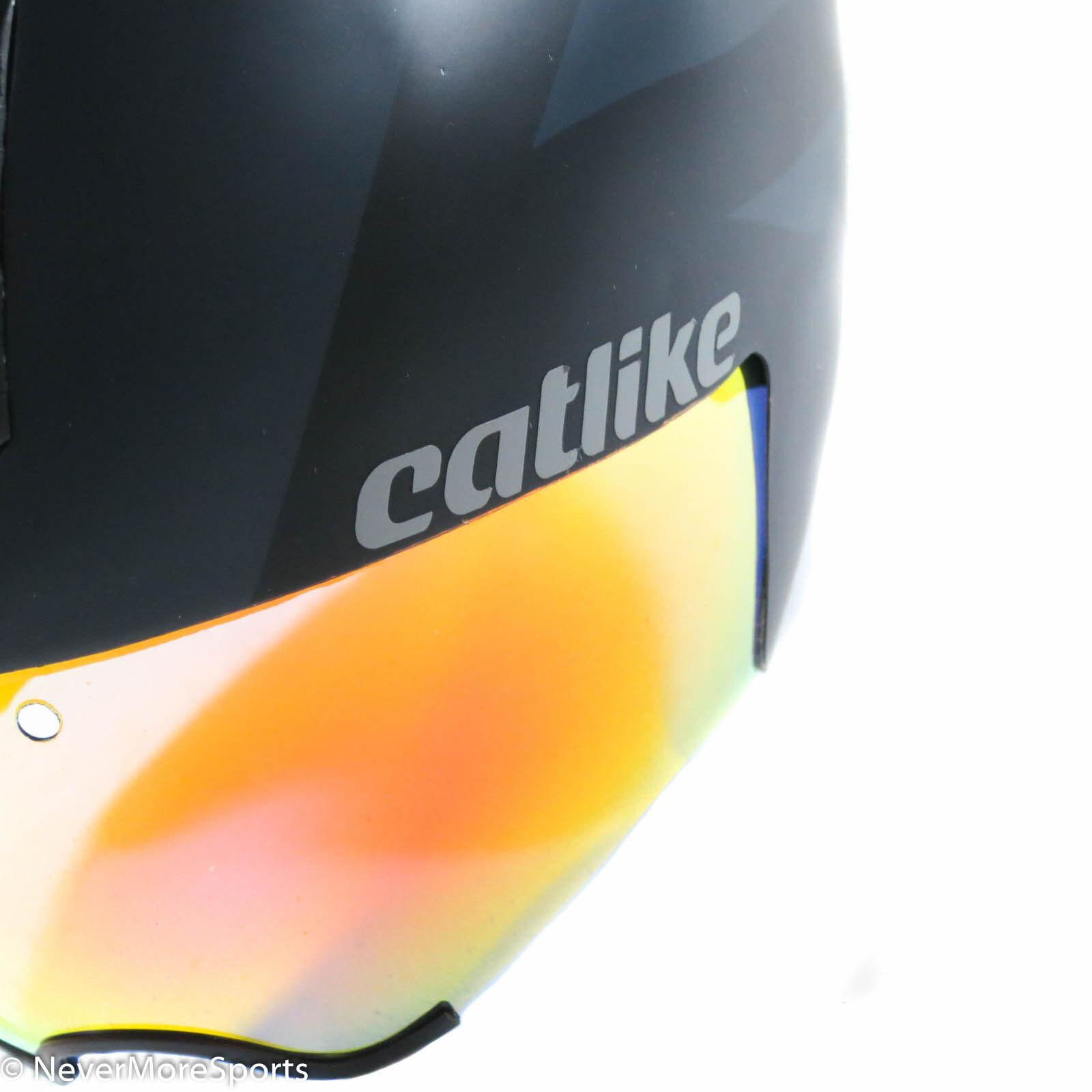 Catlike Chrono Aero WT TT Tri Helmet Med Large 57-60cm BLK GRY 2130011MDLGVR
