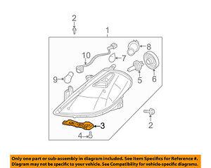 2 PC Headlight Head lamp Retainer Bracket Front for Versa Hatchback 2007-2012