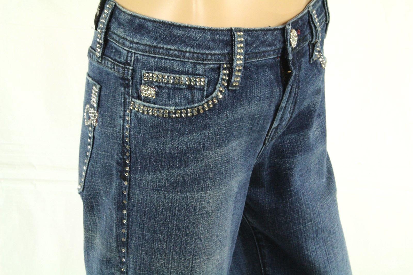 Claudio Milano Women's Jeans Swarovski Crystal Embellished Size 28  260