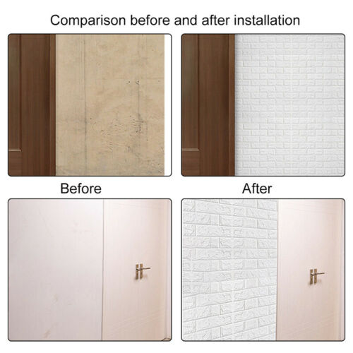 3D Brick Foam Wall Sticker Panel Self Adhesive Wallpaper For Living Room Bedroom