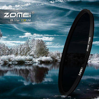 ZOMEI 30.5/37/49/58/67mm/72/77MM/82MM 720NM Infrared X-RAY IR Filter For Canon