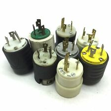 Lot Of 8 Twist Lock Turn And Pull Plugs Male 30a 250v 2 Pole 1 Ground