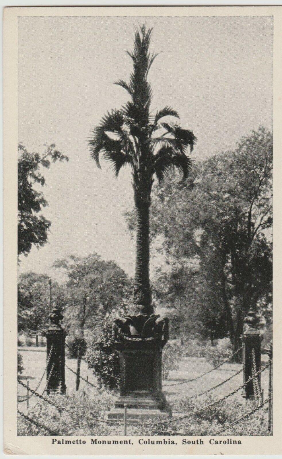 PALMETTO MONUMENT COLUMBIA SC c1942 Postcard