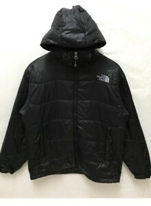 The-North-Face-Men-Black-Puffer-Down-With-Hoodie-Jacket-Small-Size