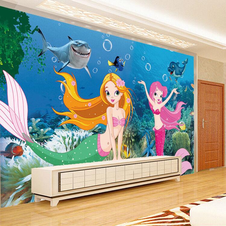 3D Meeresboden Prinzessin 74 Tapete Wandgemälde Tapete Tapeten Bild Familie DE | Qualitativ Hochwertiges Produkt  | Elegant und feierlich  | Merkwürdige Form