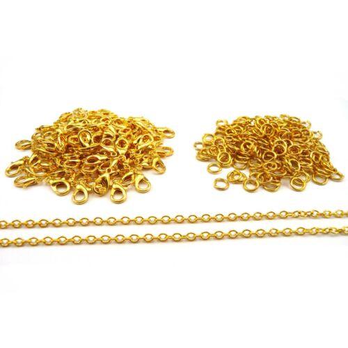 Los resultados de la fabricación de joyas Cadena De Enchapado En Oro Amarillo broches anillos de salto SD1