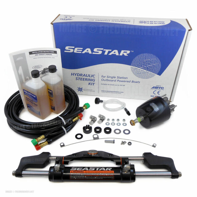 Complete Boat Steering System 15ft NEW 250HP Teleflex SeaStar