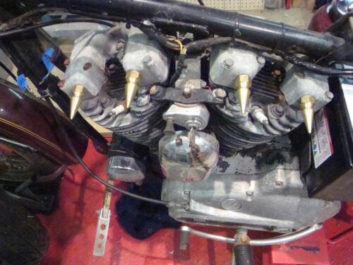 4 NEW HARLEY SHOVELHEAD BRASS SPIKE ROCKER SHAFT END NUTS chopper bobber hd