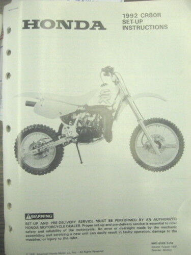 1992 Honda Cr80r Set Up Instructions Wiring Diagram