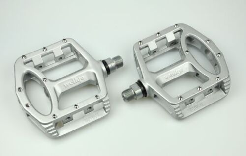 Wellgo MG-1 Big Platform Pedals MTB BMX Road Bike Bicycle Silver B US SELLER