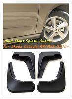 4PCS Mud Flaps Splash Guards Fenders Mudguards For Skoda Octavia A7/MK3 2015+