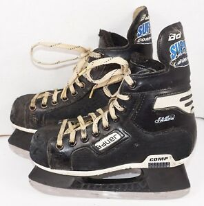 BAUER-SUPREME-COMP-FLO-JR-3D-ICE-HOCKEY-SKATES-SIZE-3-JUNIOR-D-WIDTH-USED