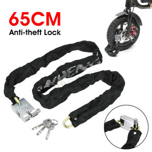 65CM-Anti-Theft-Heavy-Duty-Chain-Lock-Padlock-Motorcycle-Bike-Bicycle-Scooter