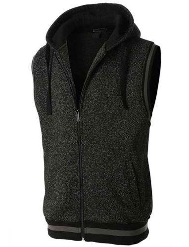 M-3X J Doe Style Men/'s Soft Fleece Sleeveless Hoodie Sweatshirt with Pockets