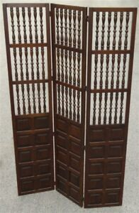 Enjoyable Details About 1960S 1970S Mcm Mid Century Walnut Wood Spindle Folding Screen Room Divider Interior Design Ideas Tzicisoteloinfo