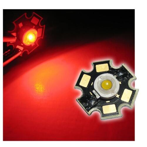 5 x LED de alto rendimiento chip 3w rojo highpower Star los LED rojos Rouge red rojo