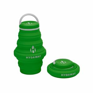 fbc63af796 Image is loading Hydaway-Hiking-Travel-Leakproof-Collapsible-Water-Bottle -Timber-