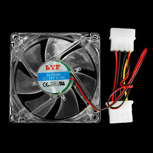 4Screws+80mm//3inch Ball Bearing Tower Computer Cooling Case Fan 3pin {4LED WHITE