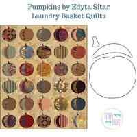 Pumpkins Applique Quilt Pattern & Stencil Edyta Sitar Laundry Basket Quilts