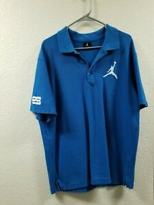 Mens Nike Air Jordon Jumpman Polo button shirt Size XL Blue short sleeve
