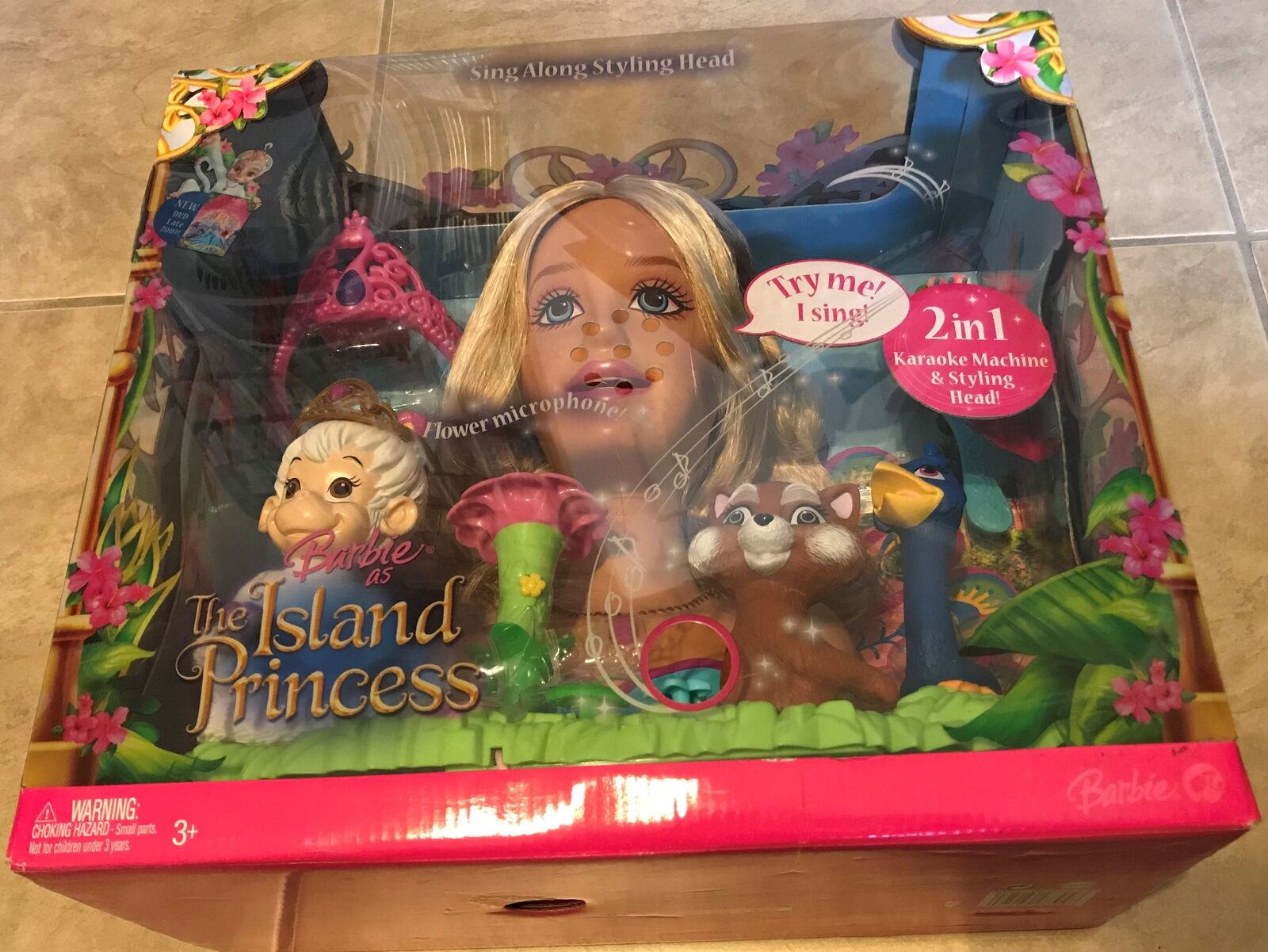 Barbie como princesa de isla  Princess rosadolla hablando & cantando Estilo Cabeza Nuevo