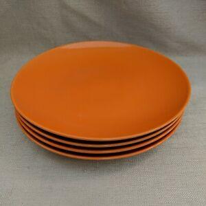 "4 Royal Norfolk Orange Dinner Plates -10.5"""